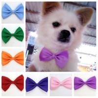 einstellbare halsbänder großhandel-Hundekrawatte Krawatten Hund für Weihnachtsfest Party Katze Haustier Krawatte Kopfschmuck verstellbare Fliege Zubehör T2I5255