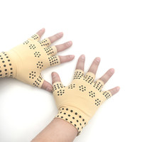 перчатка для терапии оптовых-1 Pair Magnetic Therapy Fingerless Gloves Arthritis Pain Relief Heal Joints Braces Supports Health Care Tool Foot Care Tool3.0#