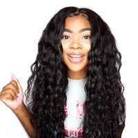 Wholesale brazilian human hair wigs online - Lace Front Human Hair Wigs Loose Deep Wave For Black Women Full Lace Remy Brazilian Wigs Pre Plucked Lace Front Wig