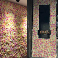 Wholesale flower wall decorations 3d resale online - 60x40cm each Piece Peony Hydrangea D Rose Flower Wall Panels for Wedding Backdrop Centerpieces Party Decorations