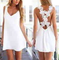 blumenkragen kleid muster großhandel-modische Landhausstil Sommerkleid Frauen Blumenmuster Schlinge V-Ausschnitt Kragen A-Linie plus Größe 3XL Kleider