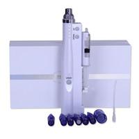 мезотерапия иглой для домашнего использования оптовых-Бесплатная доставка дома и салона использовать электрический Microneedling авто мезотерапия инъекционный пистолет нано иглы дерма ручка