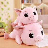 Wholesale big eye soft toys resale online - 1PC cm Cute Big Eyes Pig Plush Toy Stuffed Soft Animal Cartoon Pillow Christmas Gift for Kids Body Kawaii Valentine Present