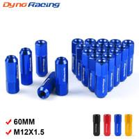 rote radnüsse großhandel-Dynoracing 60 MM M12 * 1,5 Radmuttern Neue 20 STÜCKE Racing Radmuttern Schraube Aluminium Radmutter M12X1,5