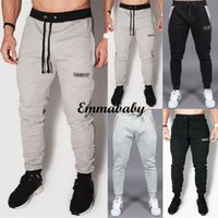 Discount pants man game New Fashion Men Sport Pants Gym Slim Fitness Bodybuilding Trousers Cool Game Training Running Joggers Outwear Casual Sweatpants