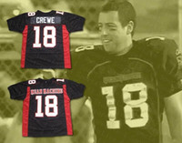 ingrosso maglia di calcio di ordine-Uomini Paul Crewe 18 Longest Yard Mean Machine Jersey uniformi di gioco Full Movie cucito Black Team Size Mix Order S-3XL