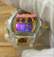 ingrosso orologio doppio movimento-2019 Il nuovo stile orologi orologio GA6900 lusso doppio movimento quarzo tecnologia gel di silice di sport esterni di alta qualità marca famosa del Giappone LED
