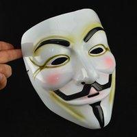 v máscaras anónimas al por mayor-HotSale Máscaras de Halloween V para la máscara de la venganza máscaras de Guy Fawkes Anónimo vestido de lujo del traje de mascarada accesorio adulto Cosplay