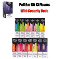 pods großhandel-New Puff Bar Einweg-Pod Starter Kit 280mAh Batterie mit 1,3 ml Kassette Geräte Pods Vape Pen 13 Flavors leer Mit Sicherheits-Code