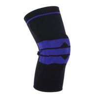 дышащие баскетбольные коленные подушечки оптовых-Sports Kneecap High Compression Silicone Padded Knee Support Sleeve Breathable Anticollision Basketball Fitness Running Kneecap