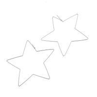 полые серьги обруча оптовых-1pair Women Drop Heart Star Shaped Jewelry Lady Eardrop Geometric Earrings Punk Style For Party Big Hoop Hollow Fabala Alloy