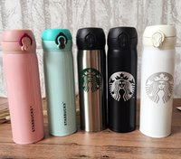 500ml Starbucks Bottles Stainless Steel Water Bottle Coffee Mugs Double Wall Insulated Cars Beer Cups Coffee Mug Travel Cup