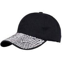 el yapımı beyzbol kapakları toptan satış-Bling Rhinestone Beyzbol Kapaklar Snapback Kap Kadınlar için Hip Hop El Yapımı Şapkalar Bayan Bere Popüler Şapkalar