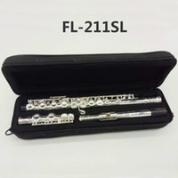 Wholesale case closed for sale - Group buy FL SL High Quality C Tone Western Instruments Student Flute Keys Closed Hole Silver Plated Flute With Case