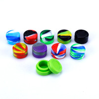 Wholesale dabbing tools resale online - Nonstick wax containers silicone box ml silicon container food grade jars dab tool storage jar oil holder for vaporizer vape FDA approved