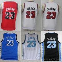 camisetas de baloncesto juvenil al por mayor-Niños Jóvenes Michael 23 jerseys de Carolina del Norte Tar Heels escuadra película atasco de espacio sintonizar Baloncesto cosido tamaño S-XL