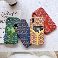 корпус телефона с отпечатком пальца оптовых-Для iPhone X Case для iPhone Xs Max XR 8/7/6 Plus Card Phone Case дизайнерский брендинг ударопрочный противоскользящий защитный чехол для отпечатков пальцев