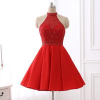 vestidos de dama de honor rojos para la venta al por mayor-2019 barato En existencias Rojo corto Vestidos de Fiesta Vestidos de fiesta Vestidos de fiesta Vestidos de fiesta Vestidos de fiesta Vestidos de dama de honor baratos Imagen Real