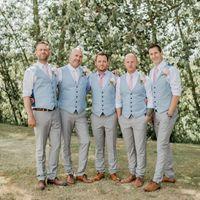 neue outfit-stil für jungs großhandel-2020 Classy New Groom Westen Country Style Hochzeit Groomsmen's Attire Weste nach Maß Boy Prom Party Outfit Himmelblau