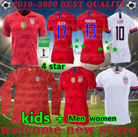 football américain achat en gros de-Coupe du monde nouvelles 2019 femmes copa Amérique maillot de football LLOYD RIPINOE KRIEGER États-Unis 4 étoiles 19 20 PULISIC USA Football Shirt
