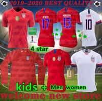 usa kadın futbolu toptan satış-Dünya Kupası yeni 2019 kadın erkek copa Amerika Futbol Forması LLOYD RIPINOE KRIEGER Birleşik Devletleri 4 yıldız 19 20 PULISIC ABD Futbol Gömlek