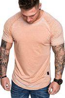 drapejar a camisa venda por atacado-Mens Sólidos drapejado camisetas Summer Fashion Sólidos Casual O-pescoço T-shirt de manga curta Tops