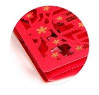 chinesische arteinladungen großhandel-Neue Einladung der kreativen Persönlichkeitseinladung der stereoskopischen Einladung der chinesischen Art Yongjie konzentrische konzentrische Festivalpartei suppli