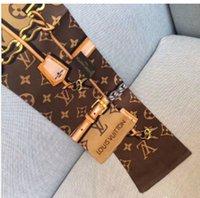 Wholesale scarf drop shipping resale online - 2020 Hot womens headband Bag Scarf Fashion Classic real silk Scarves hair band high qualtiy head Scarf Drop shipping TR01
