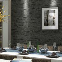 серый бежевый декор оптовых-Brief Style Plain Classic Straw Design Coffee Black Grey Beige Wall Paper Wallpapers Roll For Office Home Decor