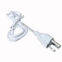 elektrischer kabelstecker großhandel-Netzkabel mit US-Stecker und eingebautem EIN / AUS-Schalter, integrierter LED-Röhren-Verlängerungskabel - Weiß