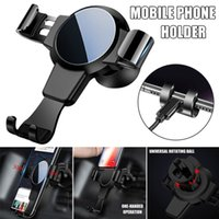 Wholesale phone holder car window online – Car Mount Phone Holder Window Universal Trilateral Arm Clamp Design inch Cell Phone Available Air Outlet smartPhone Bracket Holder