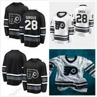 Wholesale cheap flyers jerseys online - Cheap All Star Jerseys Mens Claude Giroux Philadelphia Flyers Black White Blank Top Quality Men All Star Patch Hockey Jersey