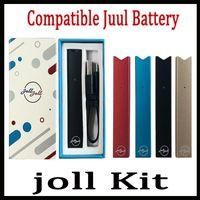 ingrosso fumo monouso-Vape JOLL Starter Kit 280mAh Compatibile Penna per fumo Batteria Caricabatterie USB Cialde Cartuccia Kit di penne Vape monouso Vs Vgod Stig Vape