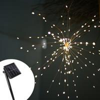 führte lichter string party dekoration großhandel-Feuerwerk solar lichterketten 200 led solar lampe 8 modus led lichter fernbedienung dekoration weihnachten licht für party bar weihnachten gga2519