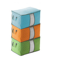 Wholesale storage room organizer resale online - Portable Quilt Storage Bag Non Woven Folding House Room Storage Boxes Clothing Blanket Pillow Underbed Bedding Big Organizer Bags DBC DH0717