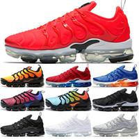 kadınlar için siyah iş ayakkabıları toptan satış-Sneaker TN Artı Koşu Ayakkabıları Erkek Kadın Günbatımı Üçlü Siyah beyaz GÜMÜŞ PATTERNS Oyunu Kraliyet Çalışma Mavi Volt Spor Ayakkabı Ücretsiz Kargo