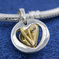 ingrosso gioielli per le nuove mamme-Nuovo 2019 925 Sterling Silver Mom's cuore ciondola il fascino tallone adatto europeo pendente gioielli ciondolo bracciali Pandora