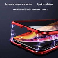 Wholesale metal mobile phone cases for sale – best iPhoneX mobile phone shell magnetic glass tide brand iPhonexmax all inclusive anti drop iphoneXR plus personality shell