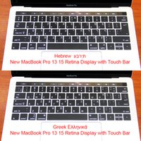 Wholesale greek keyboard resale online - Greek Hebrew Silicone US EU Common Keyboard Cover Skin For Macbook Pro Retina quot A1706 quot A1707 Touch Bar ID Release On