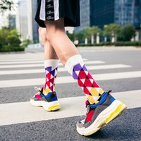 Wholesale adult pattern socks resale online - Sports Socks Outside Causal Stocking For Men Adults Fashion Pattern Cotton Socks Ankle High Comfortable Socks Stockings Free DHL M164Y