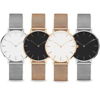 Wholesale slims watch for sale - Group buy Top Rose Gold Quartz Watch mm and mm mm Men s Casual Japanese Quartz Watch Stainless Steel Mesh with Slim Clock Ladies watch