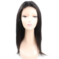 Wholesale 16 inch straight lace wig for sale - Group buy Brazilian Hair Straight Human Hair Wigs Lace Front Wigs For Black Women Inch Peruvian Hair