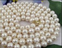 Wholesale 35 inch south sea pearls for sale - Group buy necklace INCH MM NATURAL SOUTH SEA GENUINE WHITE PEARL NECKLACE