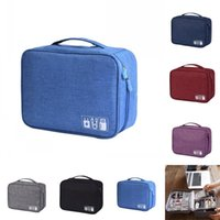Wholesale cable storage resale online - USB Cable Storage Bag Travel Sundries Pouch Accessories Make Up Multi Functional Waterproof Portable gn F1