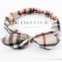 Wholesale belts brand names for sale - Group buy Europe and the United States new brand name fashion hair belt cloth art lattice elastic bow head belt lady