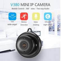 onvif câmera wifi venda por atacado-Home Security V380 2.1mm Lente 720 P Sem Fio Mini WI-FI Night Vision Inteligente IP Câmera Auto Onvif Monitor de Vigilância Monitor Do Bebê