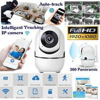 cámaras de seguridad de grabación inalámbrica al por mayor-FANTEMO Monitor de Bebé Cámara IP Portátil 1080 P HD Cámara Inteligente Inalámbrica de Bebé Grabadora de Video y Audio Vigilancia en el Hogar Cámara de Seguridad