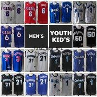 Wholesale garnett jerseys for sale - Group buy Vintage Mens Youth Anfernee Hardaway McGrady Robinson Garnett Julius Erving Drazen Petrovic Stitched Retro Mesh Basketball Jersey