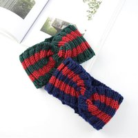 Christmas Hair Band Color-block Knit Cross Wool Hair Band Ear Protectors Hand-knit Fashion Warm