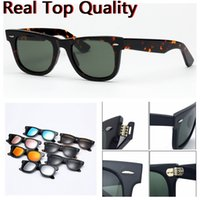 Wholesale sunglasses packaging design for sale - Group buy sunglasses top quality designed acetate frame real UV400 glass lenses men woman sunglasses with original leather case packages everything